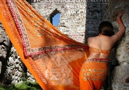 nayanthara saree small back exposing still telugu hot