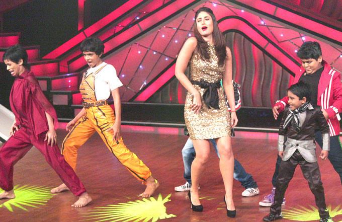 Kareena Promotes Heroine at DID Dance Ke Superkids Reality Show