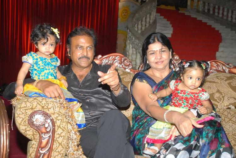 Mohan Babu and His Nirmala Devi With Their Grand Daughters at Denikaina Ready Movie Logo Launch