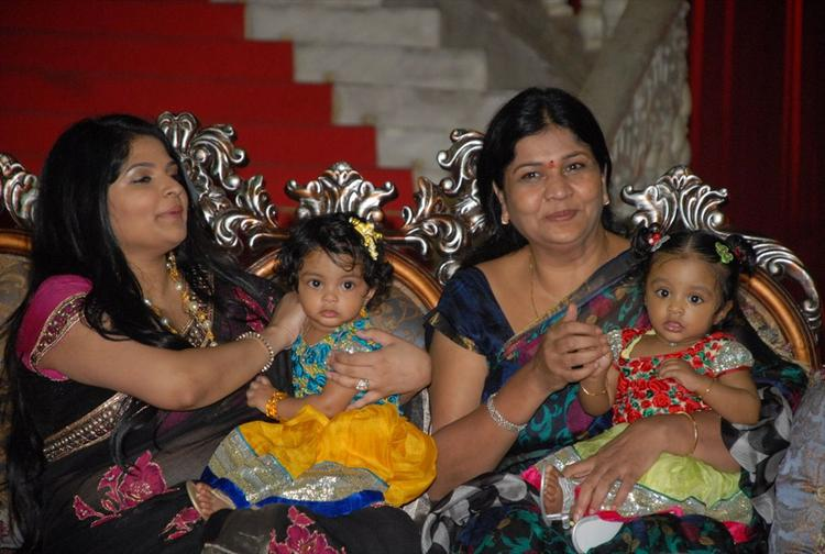 Viranica With Twin Kids at Denikaina Ready Movie Logo Launch