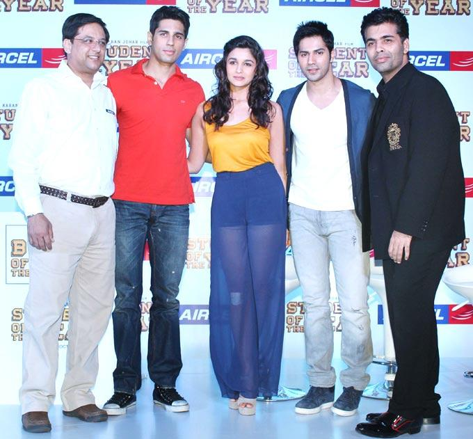 Cast Promotes SOTY At The Launch Of The Aircel Contest