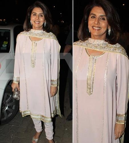 Neetu Singh Arrives For Sangeet