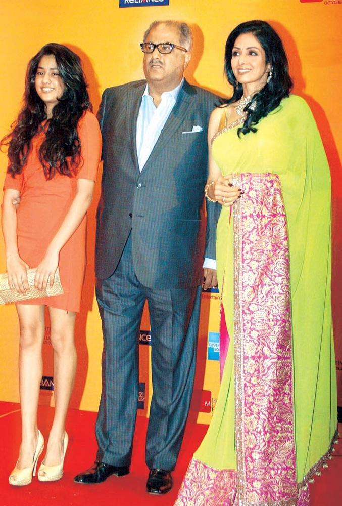 Boney And Sridevi With Their Daughter Khushi At The ...