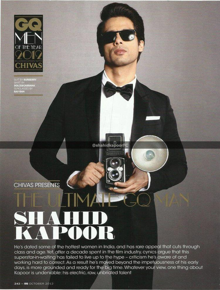 Shahid Kapoor Photoshoot For GQ Magazine October | Memsaab com