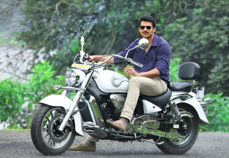 Prabhas Stunning Look Still In Bike From Telugu Movie Mirchi
