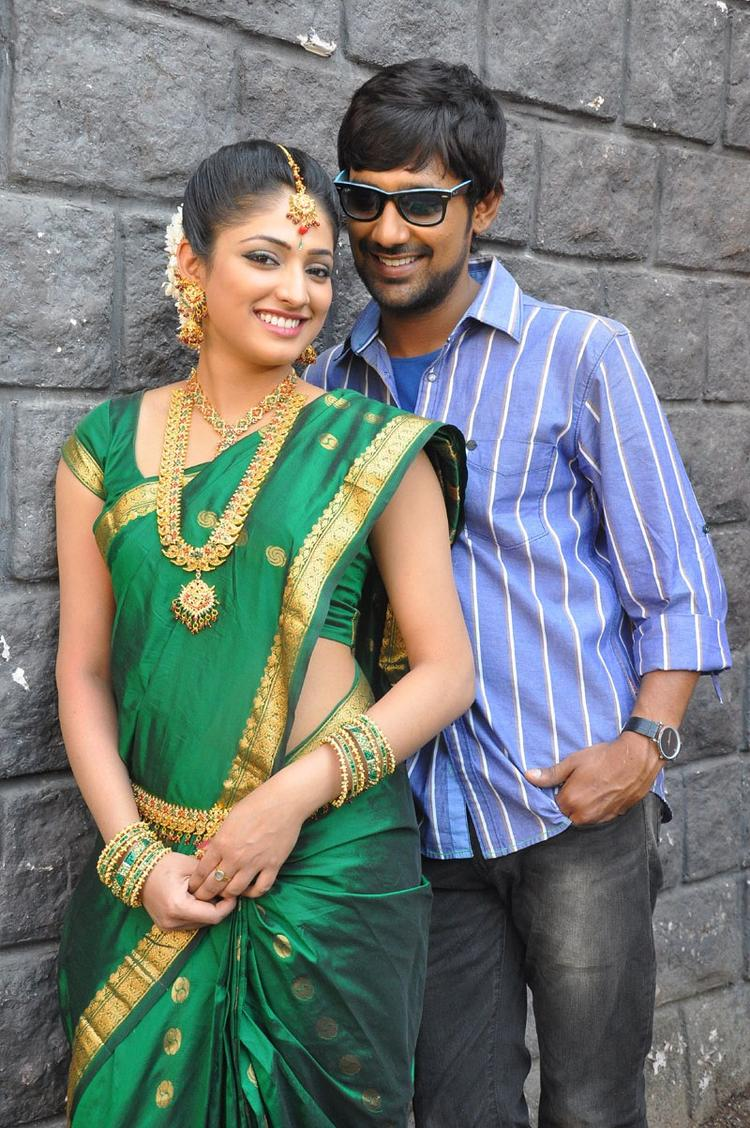Haripriya And Varun Dazzling Look Still At Abbai Class Ammai Mass Movie Location