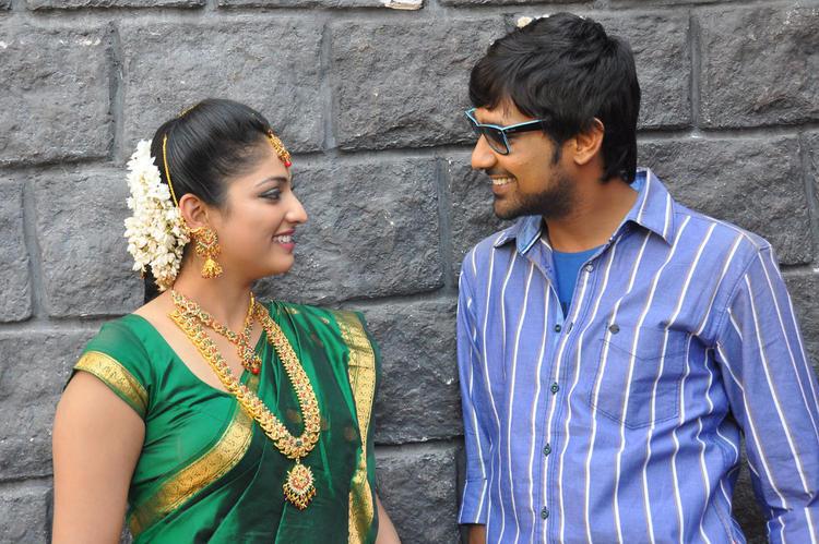 Haripriya And Varun Smiling Face Look Still At Abbai Class Ammai Mass Movie Location