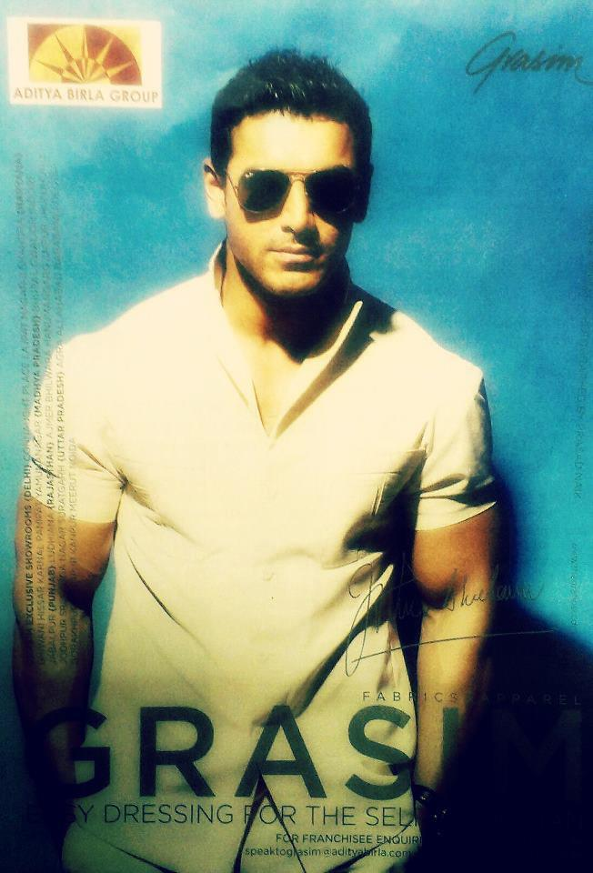 John Abraham Stylish Look Photo Ad For Grasim John