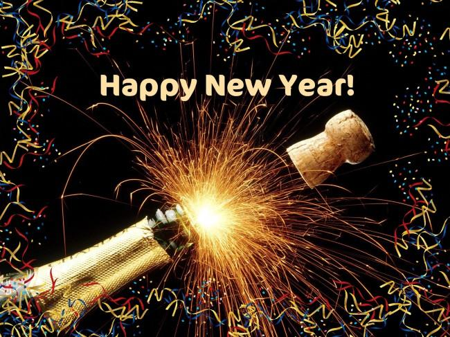 beautiful crackers in happy new year 2013 wallpaper