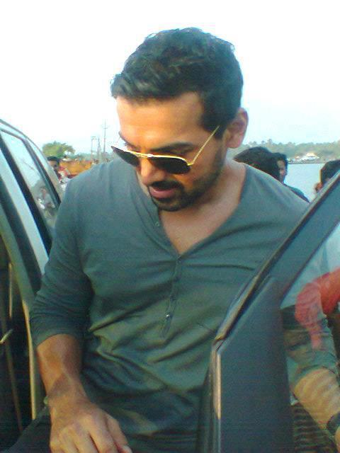 John Abraham Stylish Look On The Sets Of Madras Cafe Movie