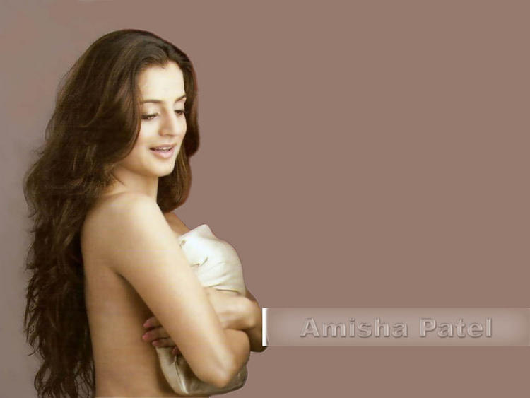 amisha patel topless dress wallpaper hot and fresh wallpapers of