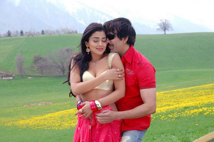 ravi teja kissing shriya saran bold actress shriya saran