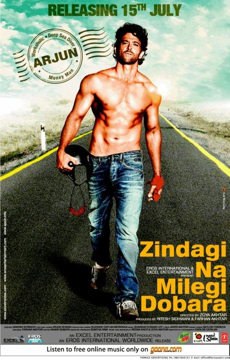 Zindagi Na Milegi Dobara Movie Hrithik Roshan Shirtless ...