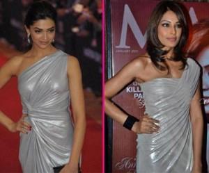 Deepika Padukone and Bipasha In Silver Color Dress Pic ...