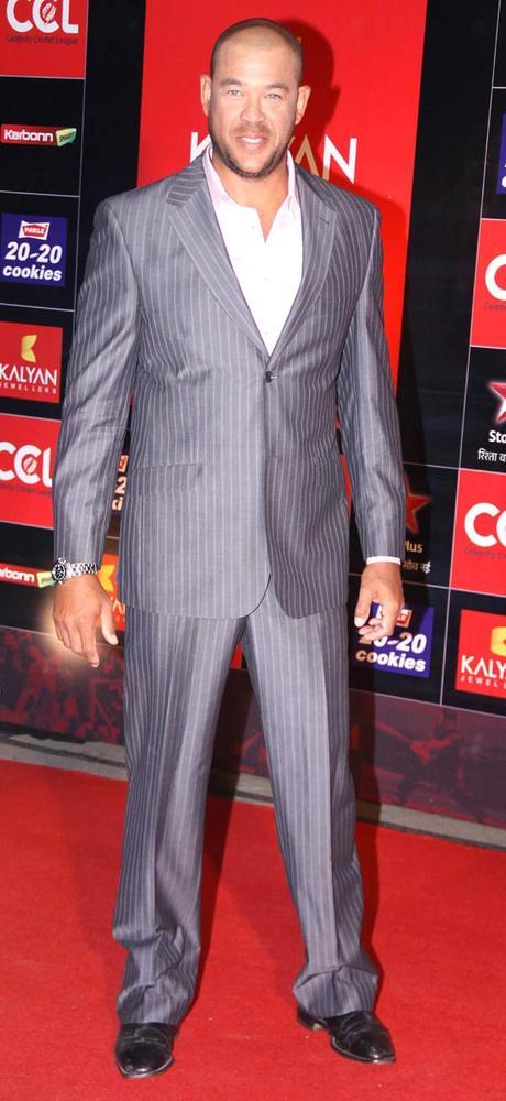 Andrew Symonds Posed At The CCL Season 3 Red Carpet