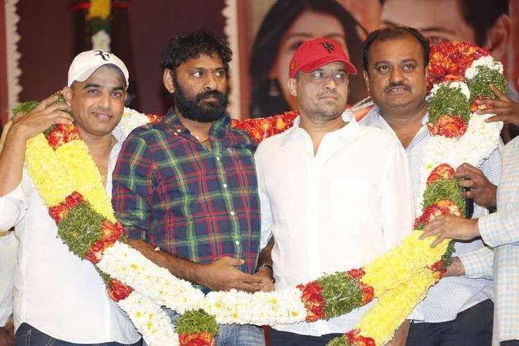 Dil Raju And Srikanth Addala At SVSC Triple Platinum Disc Function