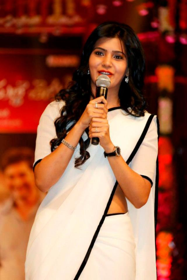 Samantha Addressed The Audience At SVSC Triple Platinum Disc Function
