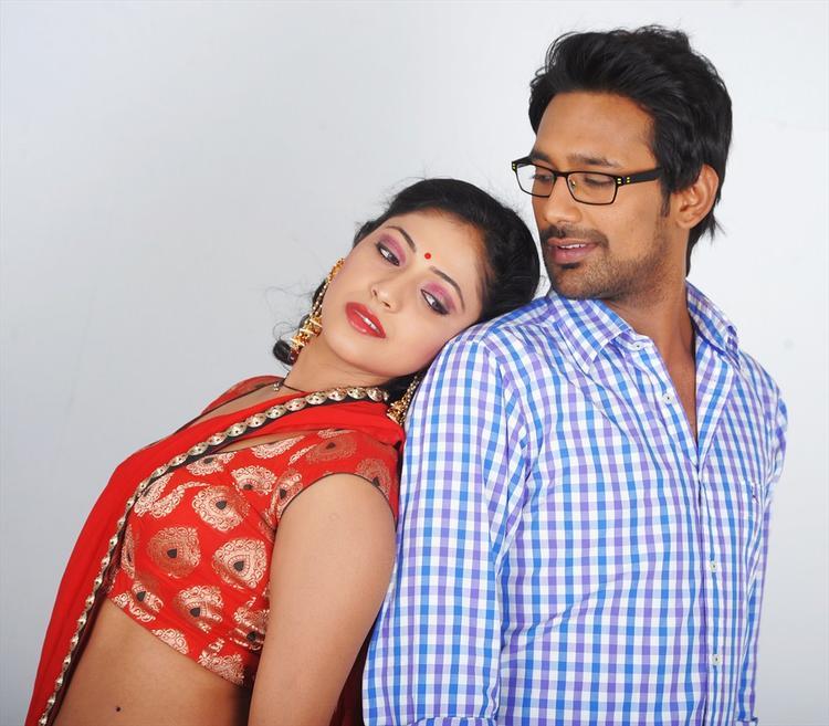 Haripriya And Varun Latest Photo Still From Telugu Movie Abbai Class Ammai Mass