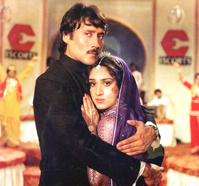 Jackie Shroff And Meenakshi Sheshadri In Hero, Rare Unseen