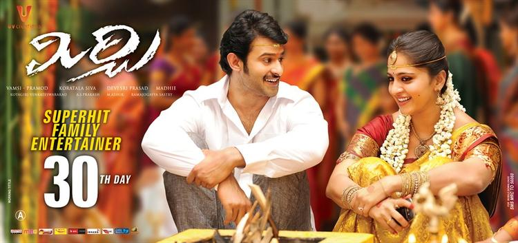 Prabhas And Anushka Marriage Look Photo In Mirchi Movie Poster