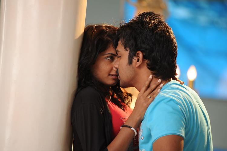 kissing scene: