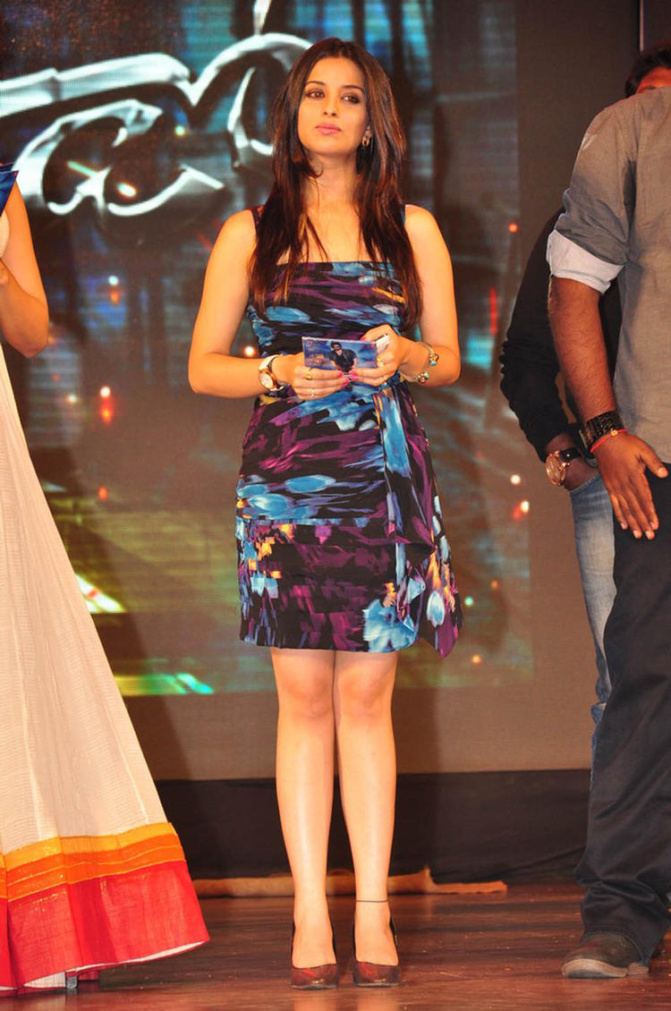 Madhurima Looked Sexy In A Mini Dress At Shadow Movie Audio Release Function