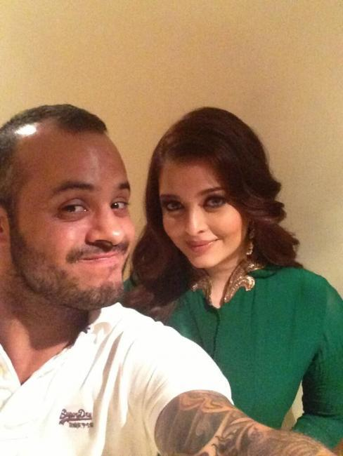 Aishwarya With Her Make Up Artist Daniel Bauer Photo Stills