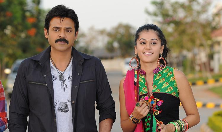 Venkatesh And Taapsee Cute Look Photo Still From Movie Shadow