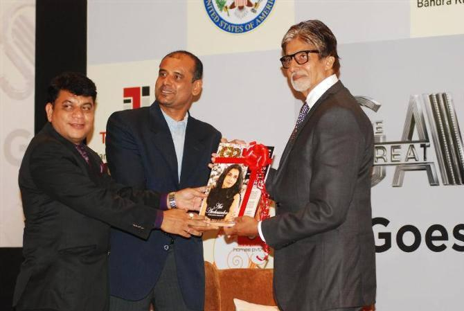 Amitabh Bachchan Launches G2 Magazine  At The Great Gatsby In Gujarat Event
