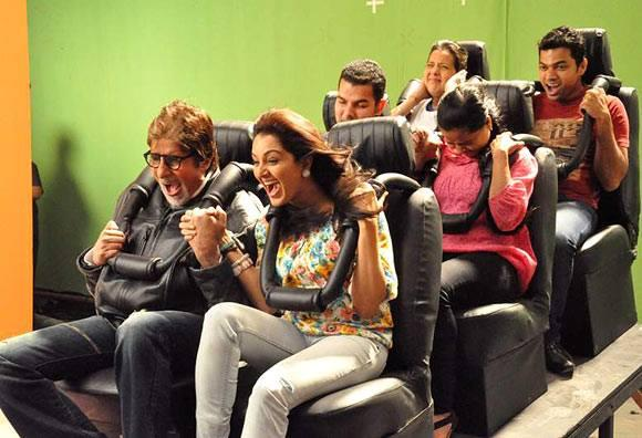 Amitabh Shoots Ad With Nagarjuna And Manju Warrier