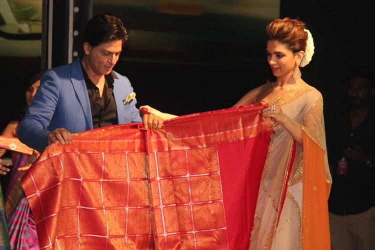 SRK And Deepika Launched Palam Silk Saree During The Promotion Of