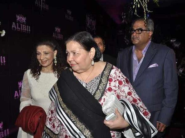 Pamela Chopra And Boney Kapoor At Sridevi's 50th Birthday Party