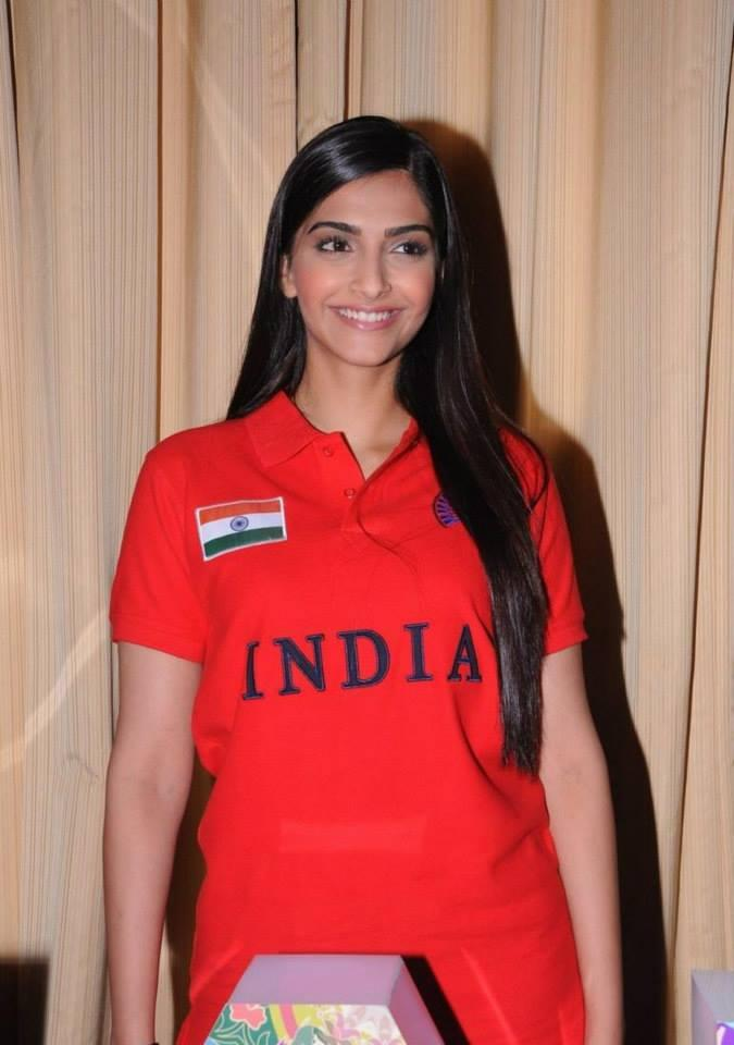 Sonam Kapoor At The Indian Brand Launch Event