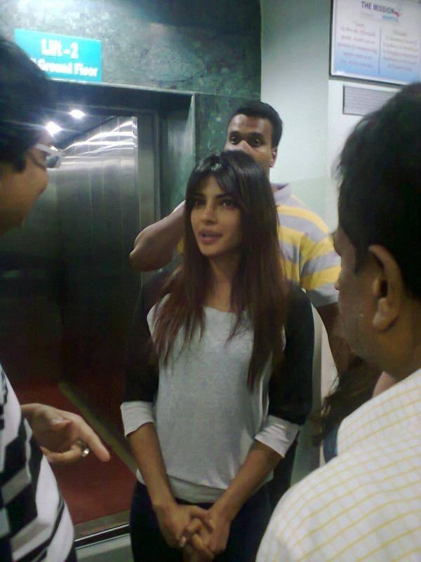Priyanka Chopra Snapped At The Mission Hospital In Durgapur