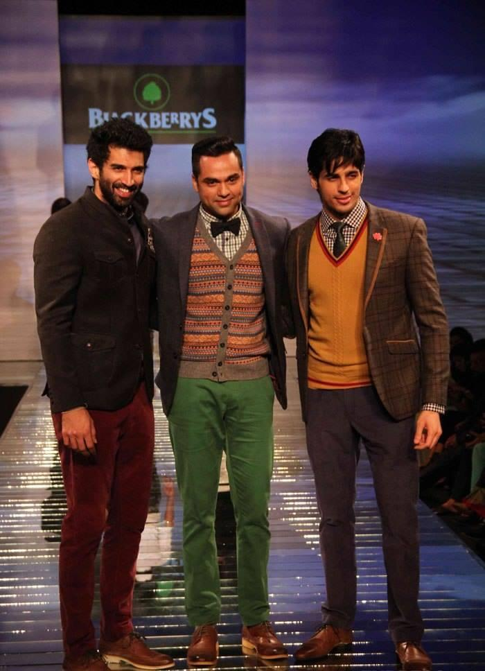Aditya,Abhay And Sidharth Walked On Ramp At Blackberry Sharp Night Fall-Winter 2013 Collection