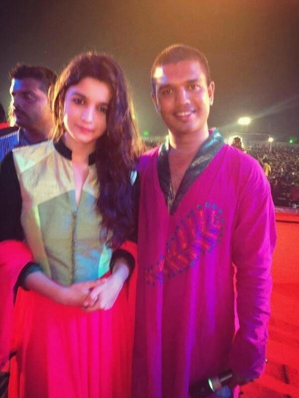Actress Alia Bhatt Celebrates Navratri Festival In Mumbai