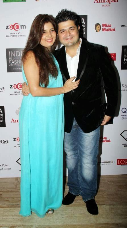 Dabboo Ratnani With Wife Manisha Ratnani Posed At The Unveiling Of 1st Edition Of Resortwear 2014 Fashion Calendar