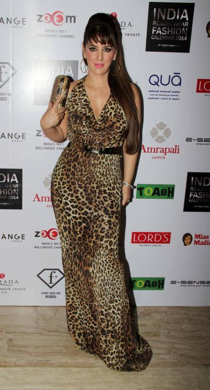 Fashion Designer Pria Kataria Puri During The Unveiling Of 1st Edition Of Resortwear 2014 Fashion Calendar Stars At The India Resortwear Calendar Launch Event Memsaab Com