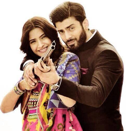 sonam kapoor and fawad khan sets khoobsurat - Sonam & Fawad Khan BTS from Movie Khoobsoorat