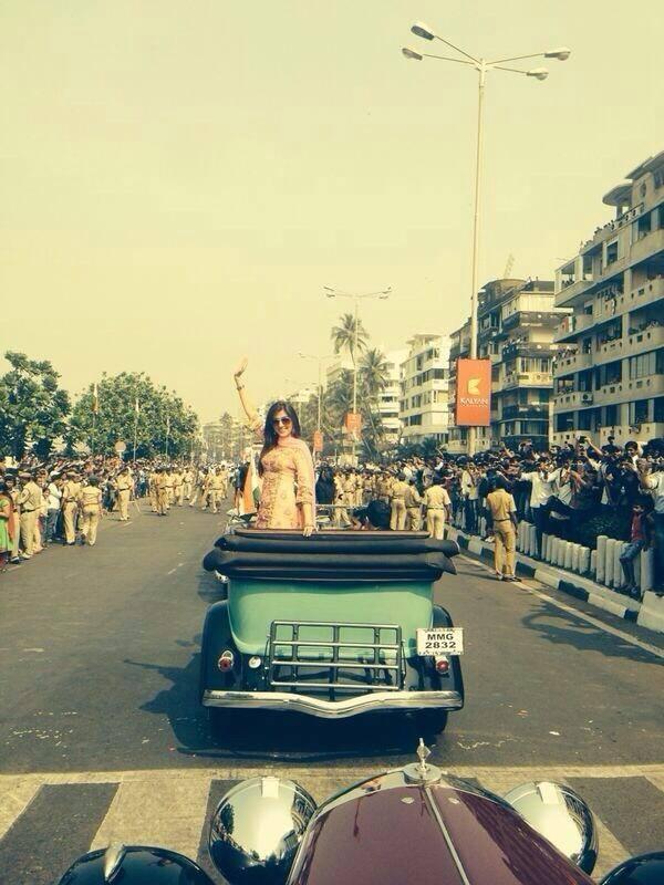 Bollywood Celebs Attend 65th Republic Day Parade At Mumbai