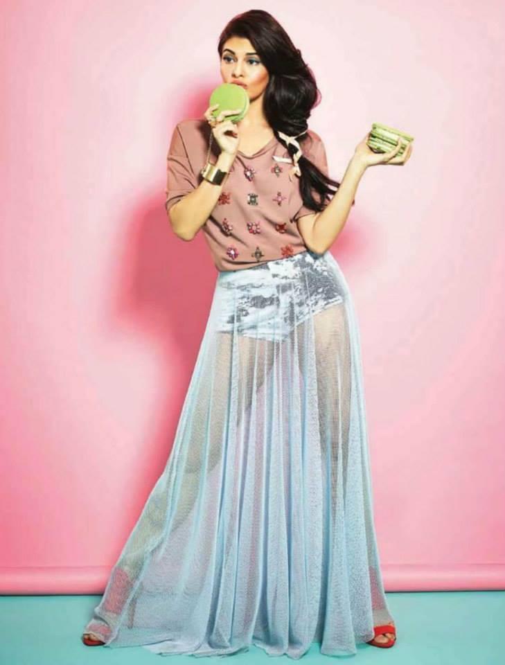 Jacqueline Fernandez On Verve April 2014 Magazine 2014 Issue