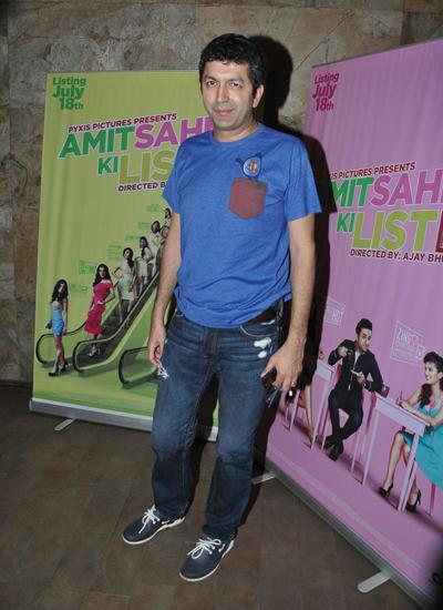 Kunal Kohli In Blue Tee During The Screening Of Vir Das Film Amit Sahni Ki List