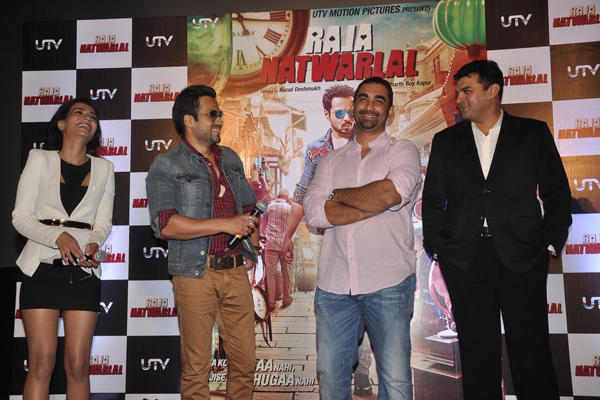 Humaima,Emraan,Kunal And Siddharth Clicked At Trailer Launch Of Raja Natwarlal Movie