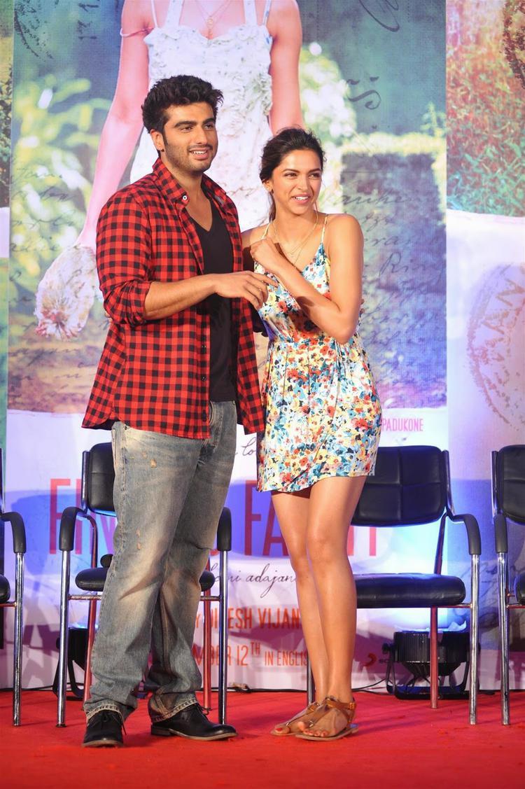 Arjun Kapoor And Deepika Padukone At Finding Fanny Musical Event