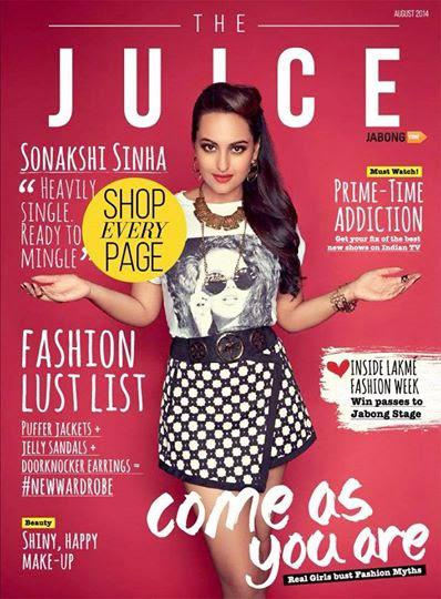 Sonakshi Sinha Cover Girl Of Juice Magazine Of Jabong