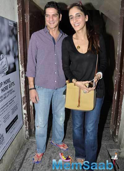 Sangeeta Bijlani And Amrita Singh Snapped At PVR Juhu