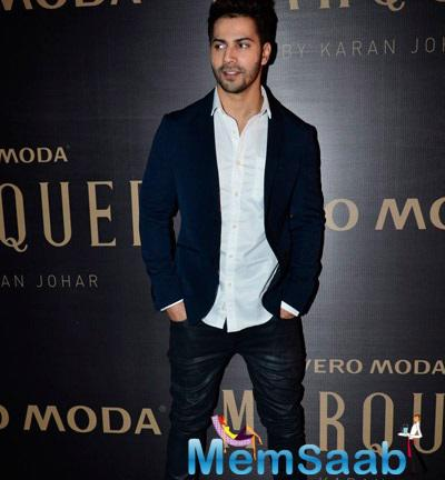 Varun Attends Karan's Fashion Collection Launch