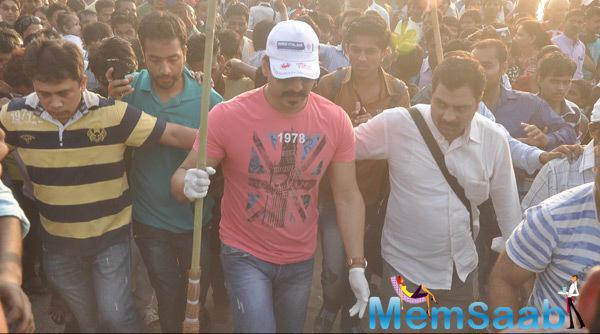 Vivek Oberoi Support Swachh Bharat Campaign During CPAA Cleanliness Drive Event