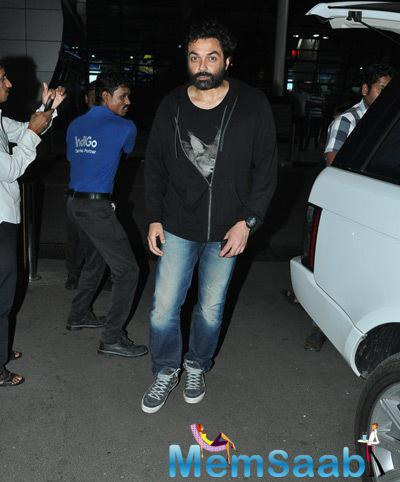 Rani Mukerji, Bobby Deol And Sachiin J Joshi Snapped At Airport