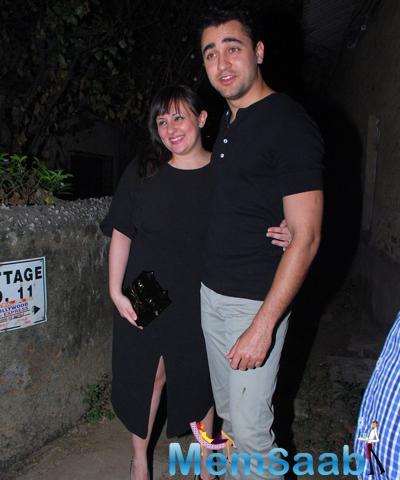 Imran Khan Posed With Wife Avantika Malik Khan During Bosco Martis Birthday Bash